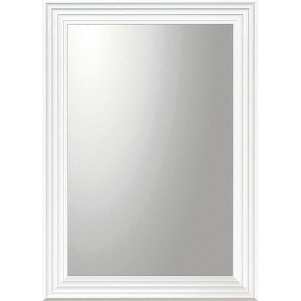 鏡 ミラー おしゃれ かわいい BM-23022 /デコラティブ 大型ミラー シャープ 「長方形(ホワイト)」 壁掛用 BM-23022