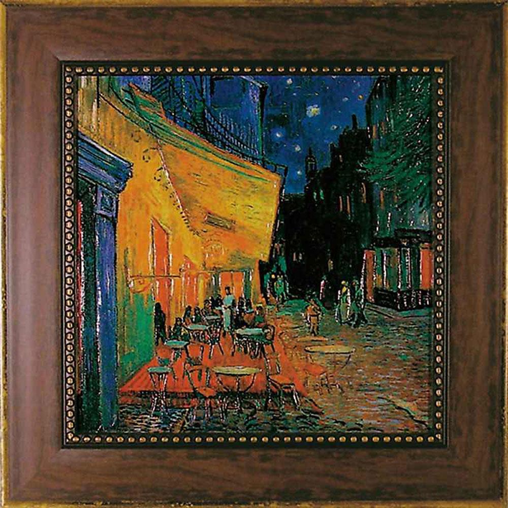 壁掛け飾り 絵画 お祝い 記念品 おしゃれ かわいい | ゴッホ 「夜のカフェテラス」 | 絵画 MW-10041 | 絵画 |