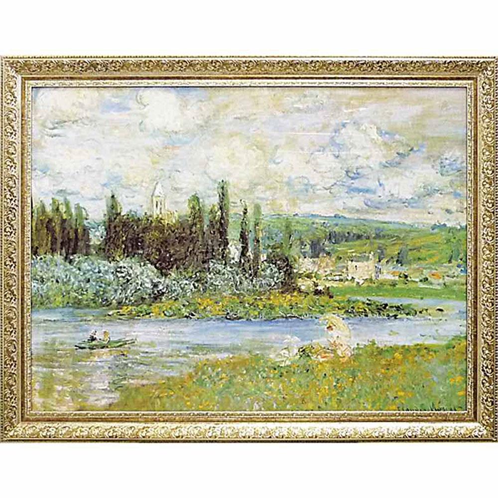 壁掛け飾り 絵画 お祝い 記念品 おしゃれ かわいい /モネ 名画シリーズ/ 「Vetheuil sur Seine 1880」 MW-18067