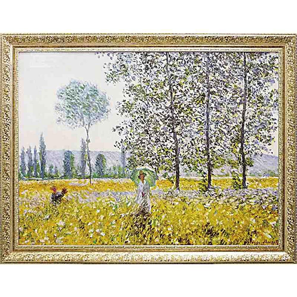 壁掛け飾り 絵画 お祝い 記念品 おしゃれ かわいい MW-18068 /モネ 名画シリーズ/ 「Champs au Printemps 1884」 MW-18068 キャッシュレス還元 ポイント5倍