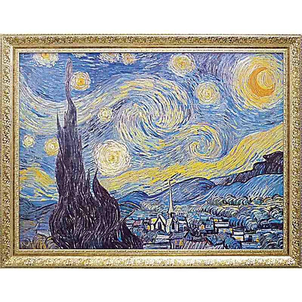 記念品 名入れゴッホ 絵画 父の日 名画シリーズ/ Starry 絵画 記念品 Night 1889 MW-18069 周年記念品 プレゼント 父の日 退職記念 卒業記念, entotsu:31c9f3cb --- sunward.msk.ru