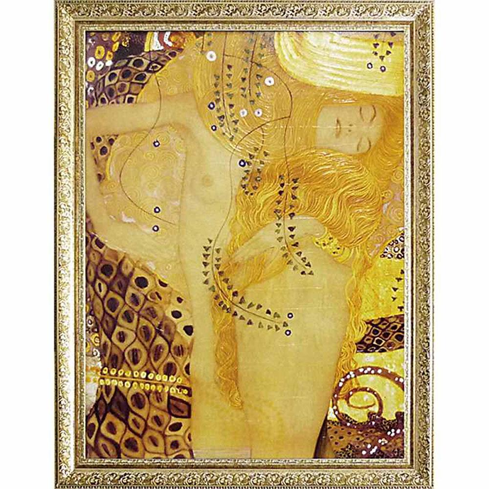 壁掛け飾り 絵画 お祝い 記念品 おしゃれ かわいい MW-18070 /クリムト 名画シリーズ/ 「Sea serpent」 MW-18070 キャッシュレス還元 ポイント5倍