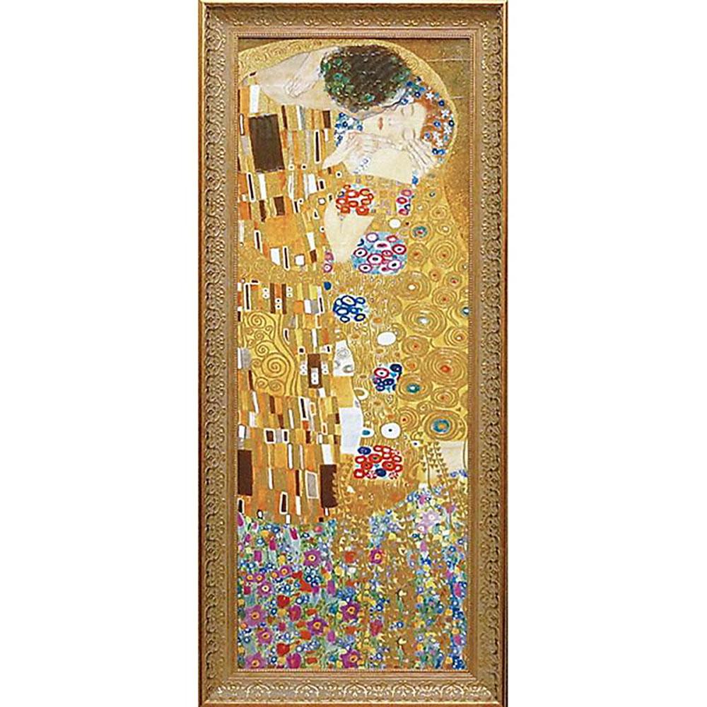 壁掛け飾り 絵画 お祝い 記念品 おしゃれ かわいい /グフタフ クリムト 「ザ、キス」 GK-18001