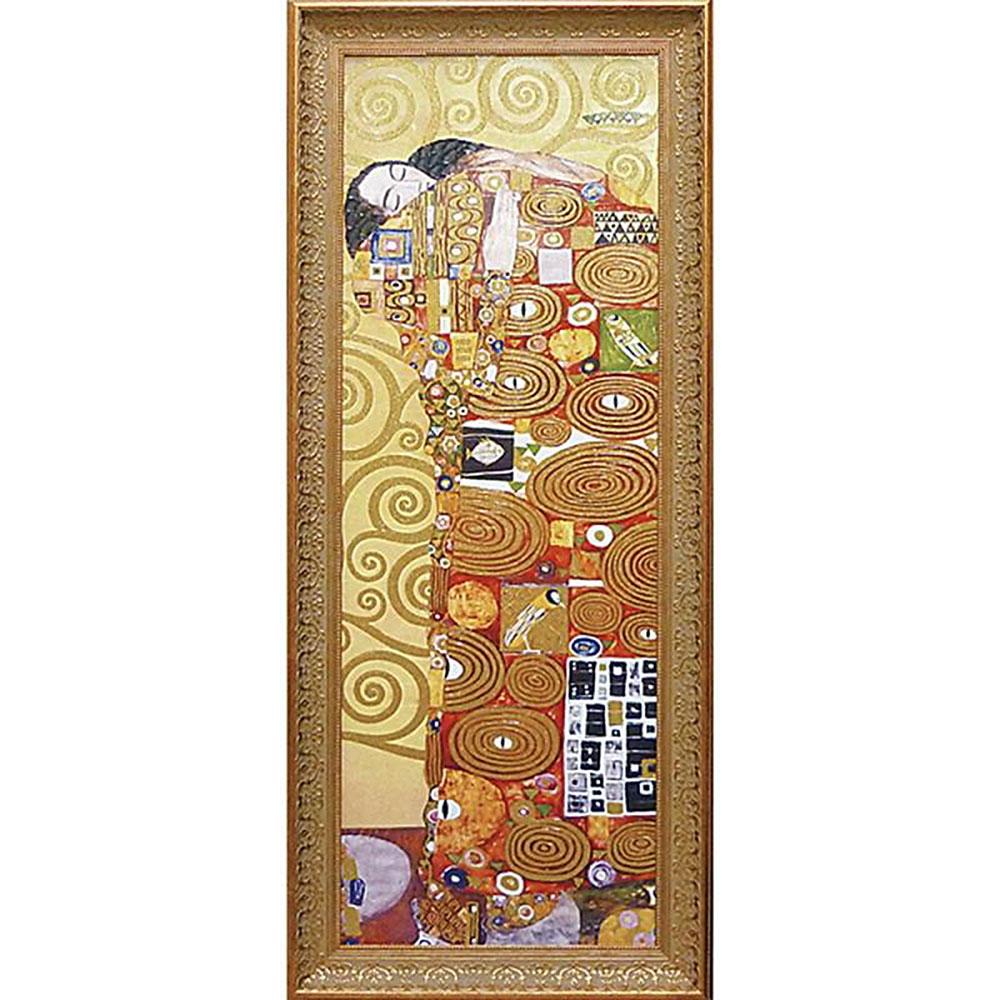 壁掛け飾り 絵画 お祝い 記念品 おしゃれ かわいい /グフタフ クリムト 「抱擁」 GK-18002