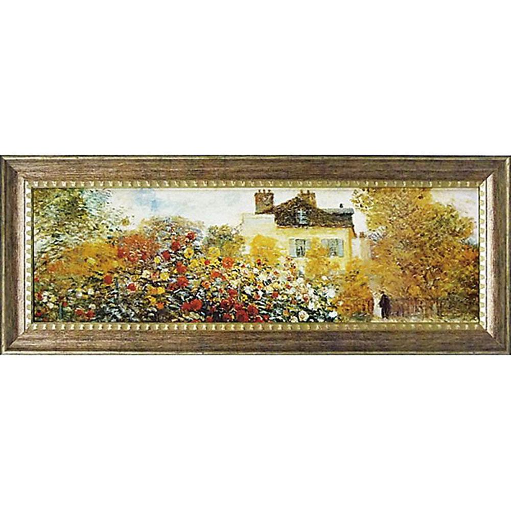 壁掛け飾り 絵画 お祝い 記念品 おしゃれ かわいい | モネ ミュージアム 「庭園のアーチスト」 | 絵画 MW-18088 | 絵画 |