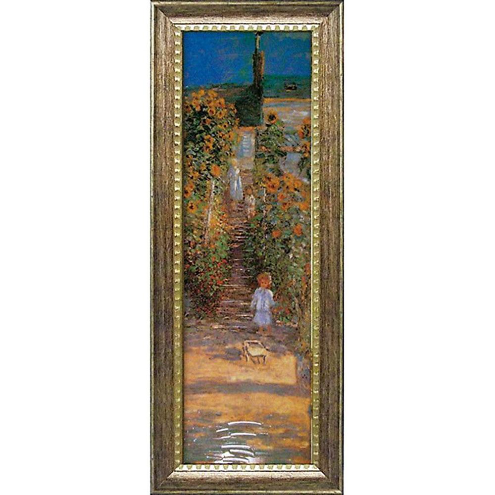 壁掛け飾り 絵画 お祝い 記念品 おしゃれ かわいい MW-18090 /モネ ミュージアムシリーズ 「ヴェトゥイユの画家の庭」 MW-18090 キャッシュレス還元 ポイント5倍