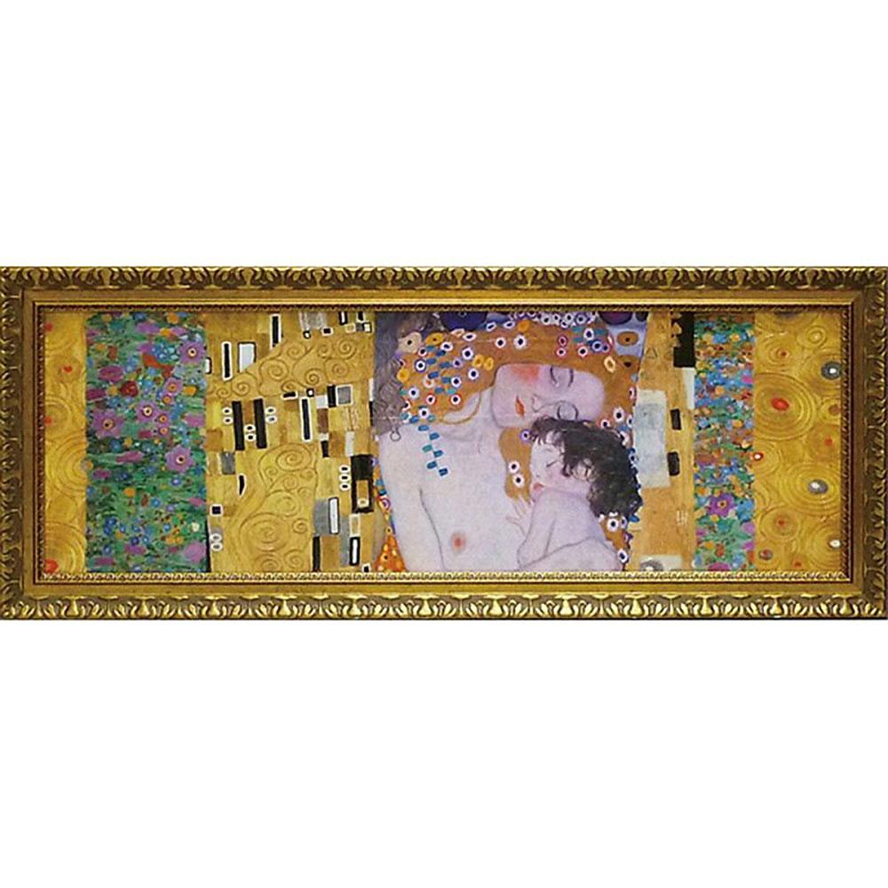 壁掛け飾り 絵画 お祝い 記念品 おしゃれ かわいい GK-17032 /クリムト デコパネル コレクション 「人生の三段階」 GK-17032 キャッシュレス還元 ポイント5倍