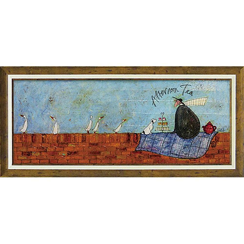 壁掛け飾り 絵画 お祝い 記念品 おしゃれ かわいい | サム トフト 「アフタヌーン ティー」 | 絵画 ST-15008 | 絵画 |