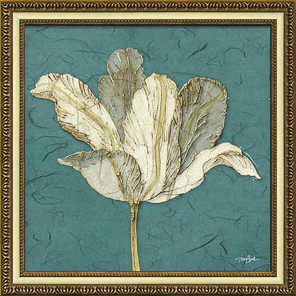 壁掛け飾り 絵画 お祝い 記念品 おしゃれ かわいい | ダイアン スティムソン 「チューリップ ウィズ ターコイズ」 | 絵画 DS-13025 | 絵画 |