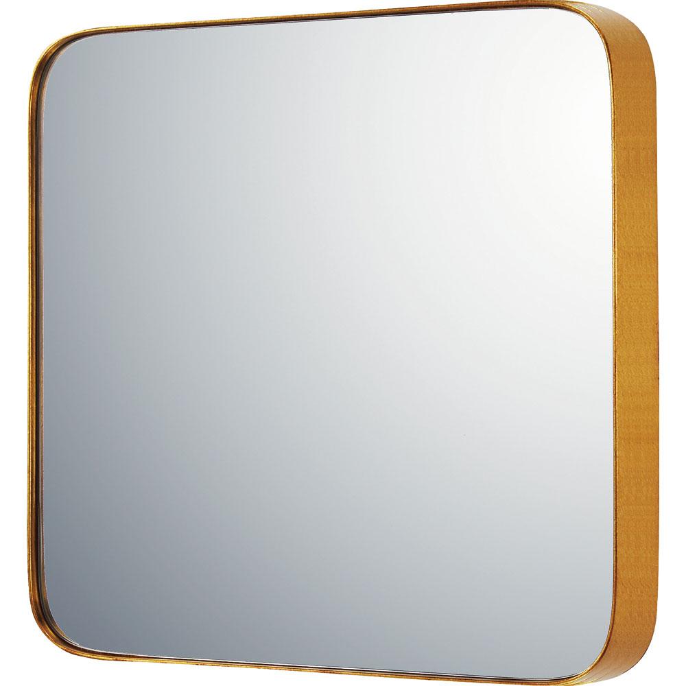 鏡 ミラー おしゃれ かわいい SM-10043 /スリムライン ミラー 「ラウンドコーナーL(アンティークゴールド)」 壁掛用 SM-10043