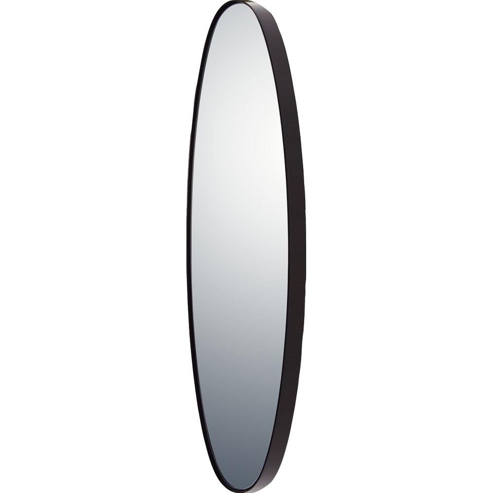 鏡 ミラー おしゃれ かわいい SM-10052 /スリムライン ミラー 「オーバルロング(グロスブラック)」 壁掛用 SM-10052