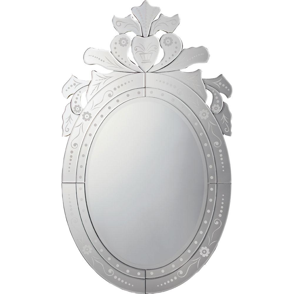 鏡 ミラー おしゃれ かわいい VM-30001 /ベネチアン スタイル ミラー 「オーバル」 壁掛用 VM-30001