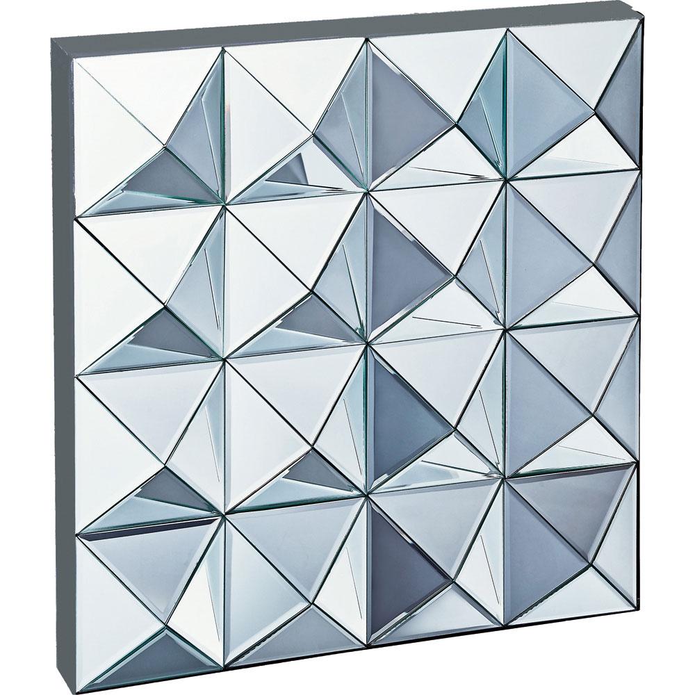 鏡 ミラー おしゃれ かわいい SM-26001 /スペース ミラーアート 「ピラミッド」 壁掛用 SM-26001