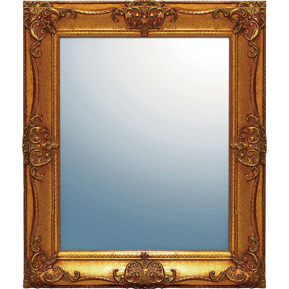 鏡 ミラー おしゃれ かわいい GM-08018 /グレース アート ミラー 「アーサーL(アンティークゴールド)」 壁掛用 GM-08018
