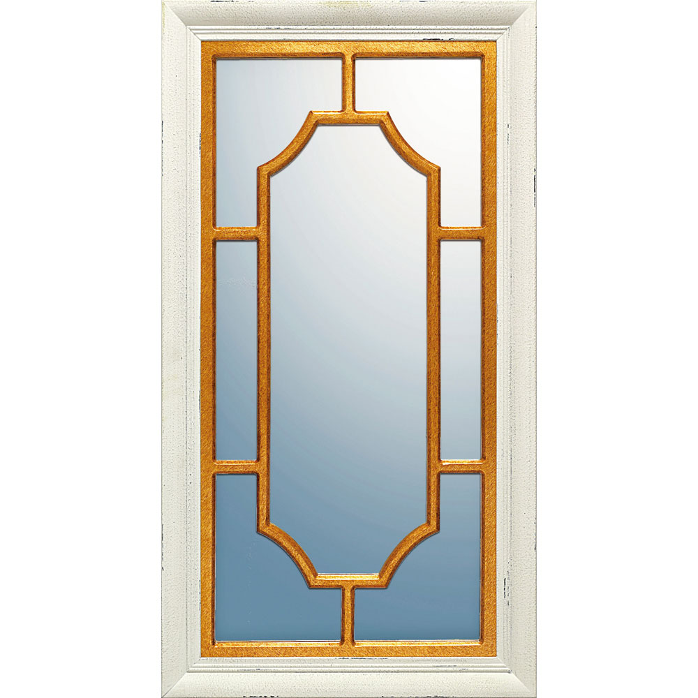 鏡 ミラー おしゃれ かわいい WM-18001 /ウィンドウ スタイル ミラー 「スクエア(アンティークコンビ)」 壁掛用 WM-18001