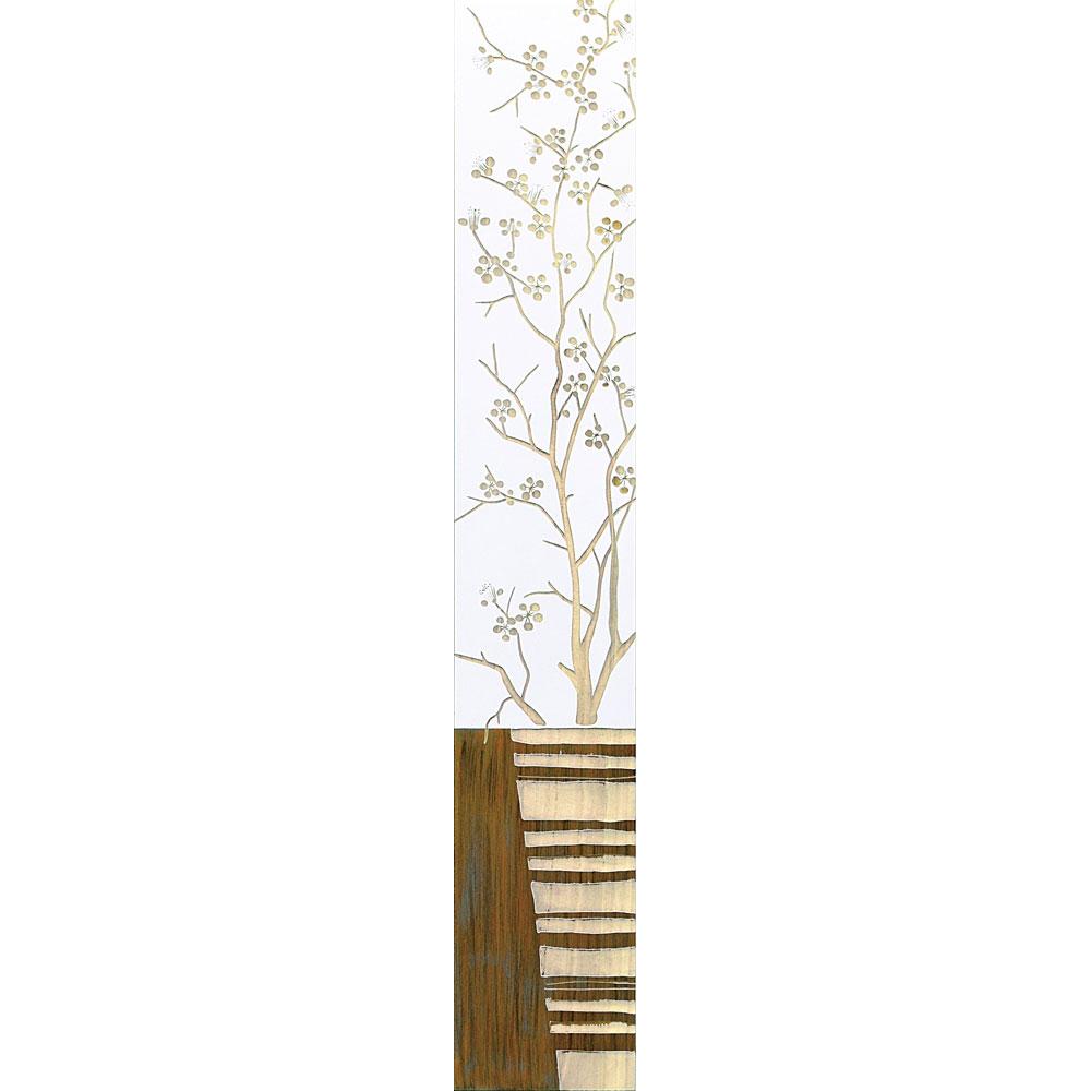 壁掛け飾り 手彫り お祝い 記念品 おしゃれ かわいい | ウッド スカルプチャー ウッド 「ジャパニーズフラワー with ベース(WH+NP)」 | ハンドブラッシュ SA-12055 | 置物 |