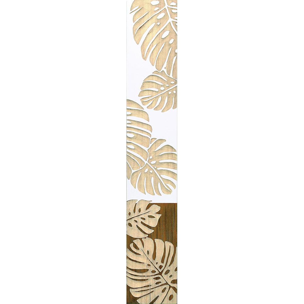 壁掛け飾り 手彫り お祝い 記念品 おしゃれ かわいい SA-12058 /ウッド スカルプチャー アート 「ダンシング モンステラ(WH+NP)」 壁掛用 SA-12058