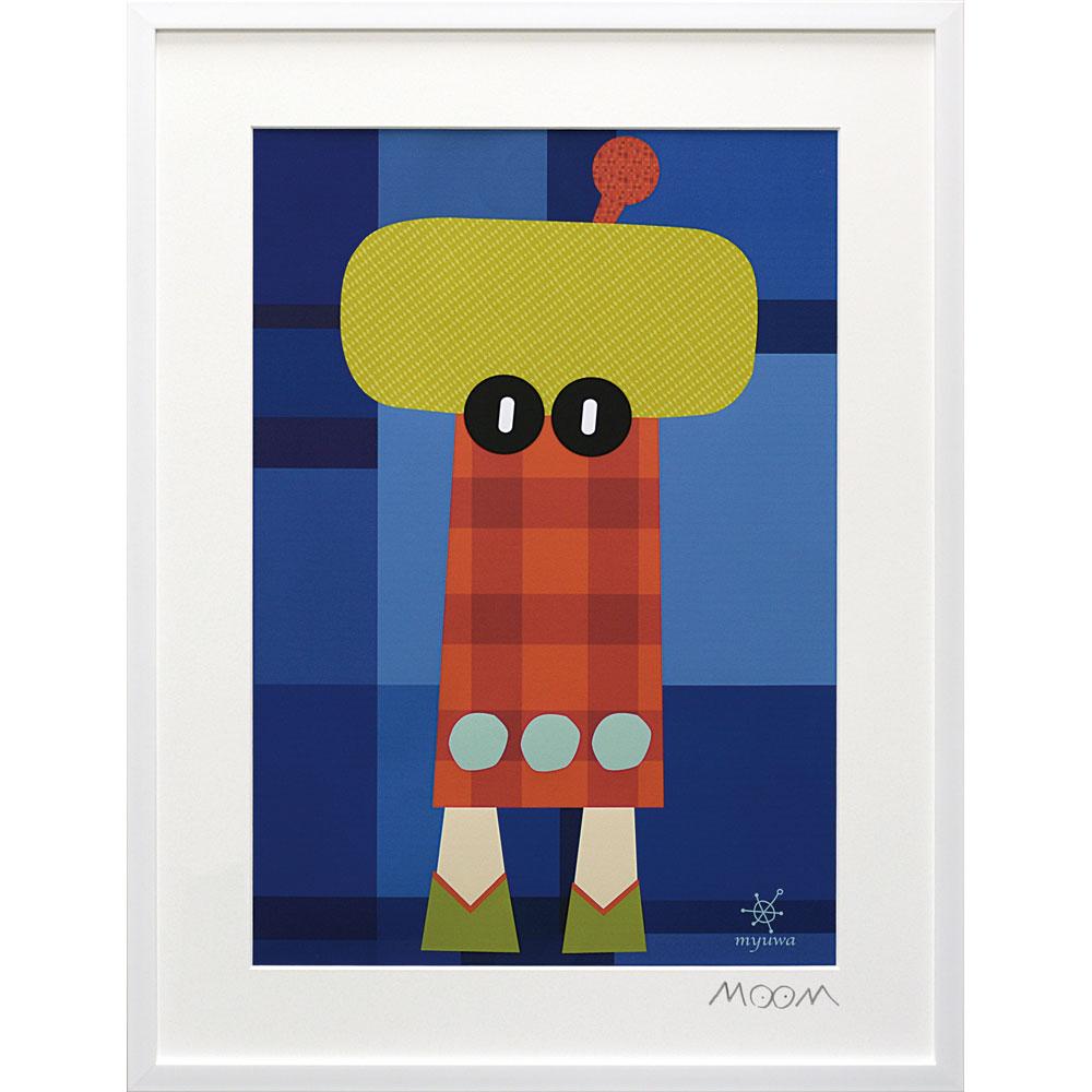 壁面飾り 卓上 絵画 額 おしゃれ かわいい MO-15001 /MoMo carnival アートフレーム 「ミュワ(Lサイズ)」 壁掛用 MO-15001 ママ割 ポイント5倍/キャッシュレス還元 ポイント5倍