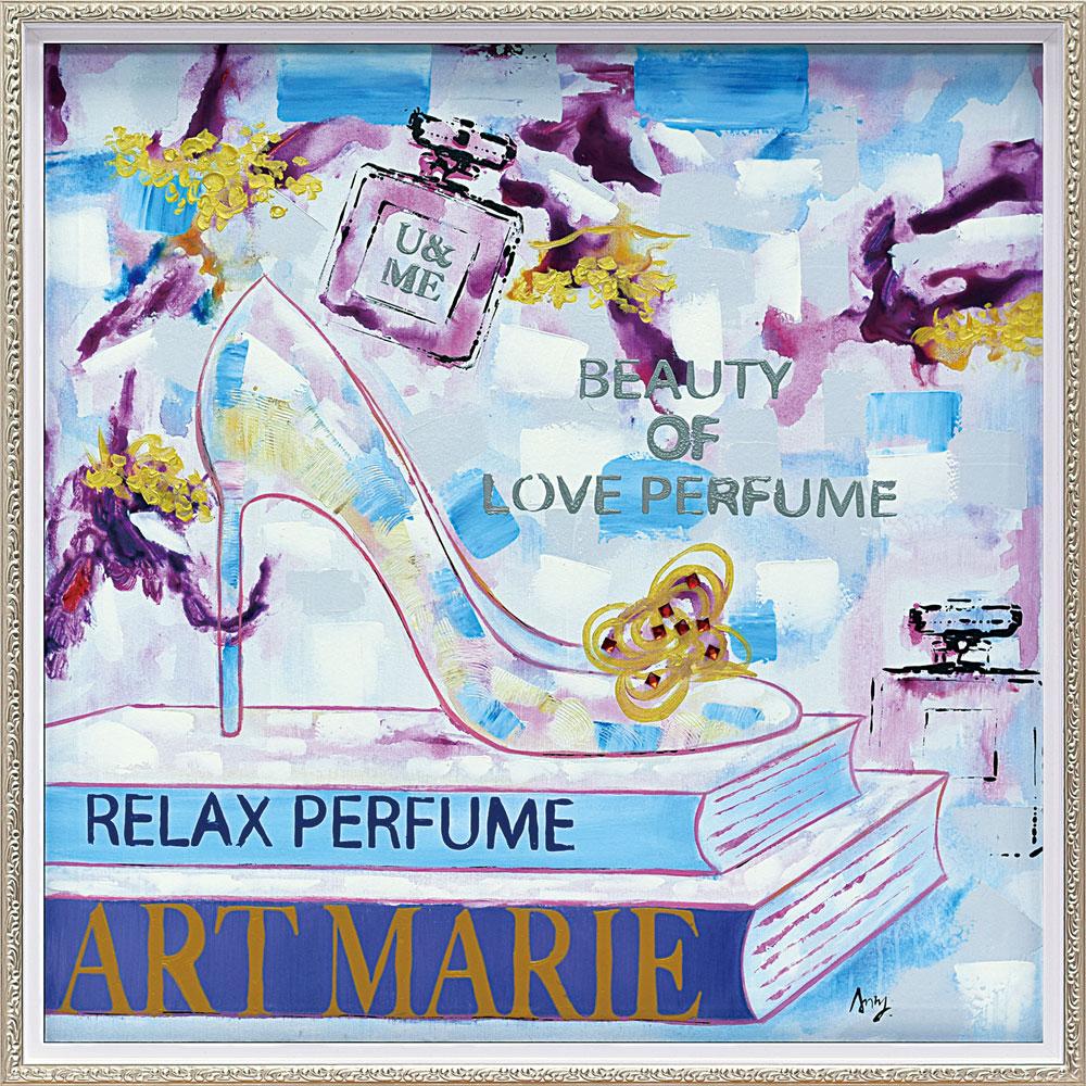 おしゃれでかわいい絵画 お祝い ギフト OP-18072 /オイル ペイント アート 「アート マリー(Mサイズ)」 壁掛用 OP-18072 キャッシュレス還元 ポイント5倍