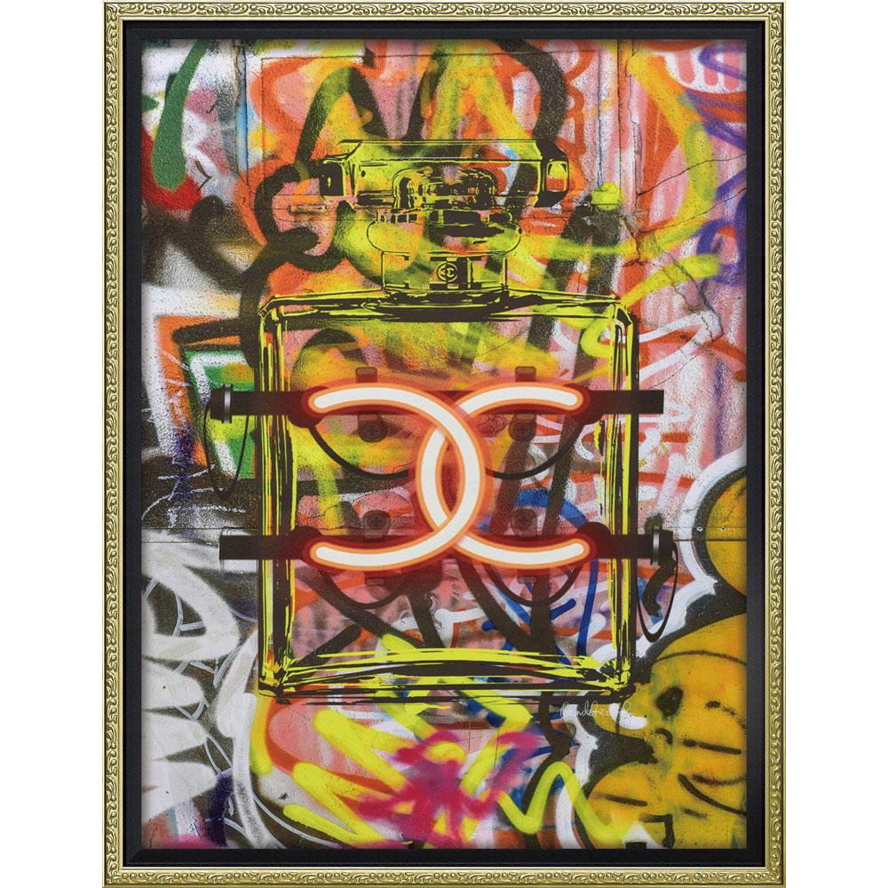 壁面飾り 絵画 額 おしゃれ かわいい BC-12035 /ブランド キャンバスアート 「グラフィティ パフューム1(Mサイズ)」 壁掛用 BC-12035