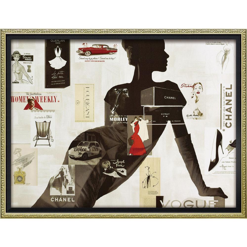 壁面飾り 絵画 額 おしゃれ かわいい BC-12037 /ブランド キャンバスアート 「ハイファッション1(Mサイズ)」 壁掛用 BC-12037