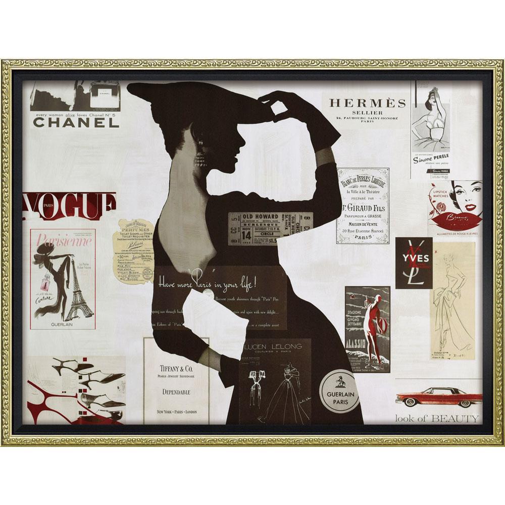 壁面飾り 絵画 額 おしゃれ かわいい | ブランド キャンバスアート 「ハイファッション2(Mサイズ)」 | 絵画額 BC-12038 | フォトフレーム |