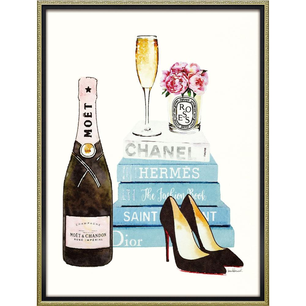 壁面飾り 絵画 額 おしゃれ かわいい BC-18006 /ブランド キャンバスアート 「ティール シャンパン(Lサイズ)」 壁掛用 BC-18006 キャッシュレス還元 ポイント5倍