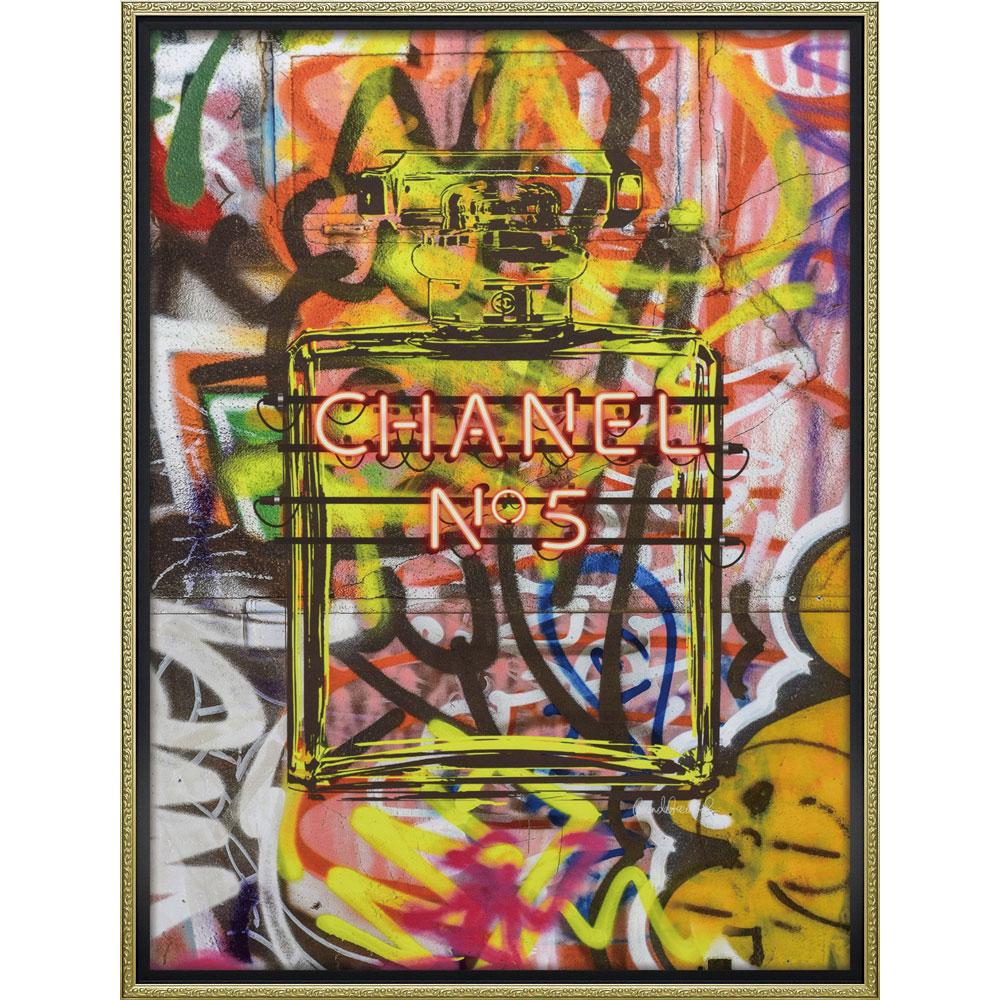 壁面飾り 絵画 額 おしゃれ かわいい   ブランド キャンバスアート 「グラフィティ パフューム2(Lサイズ)」   絵画額 BC-18016   フォトフレーム  