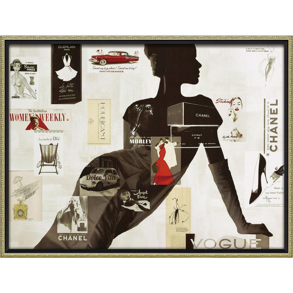 壁面飾り 絵画 額 おしゃれ かわいい BC-18017 /ブランド キャンバスアート 「ハイファッション1(Lサイズ)」 壁掛用 BC-18017 キャッシュレス還元 ポイント5倍