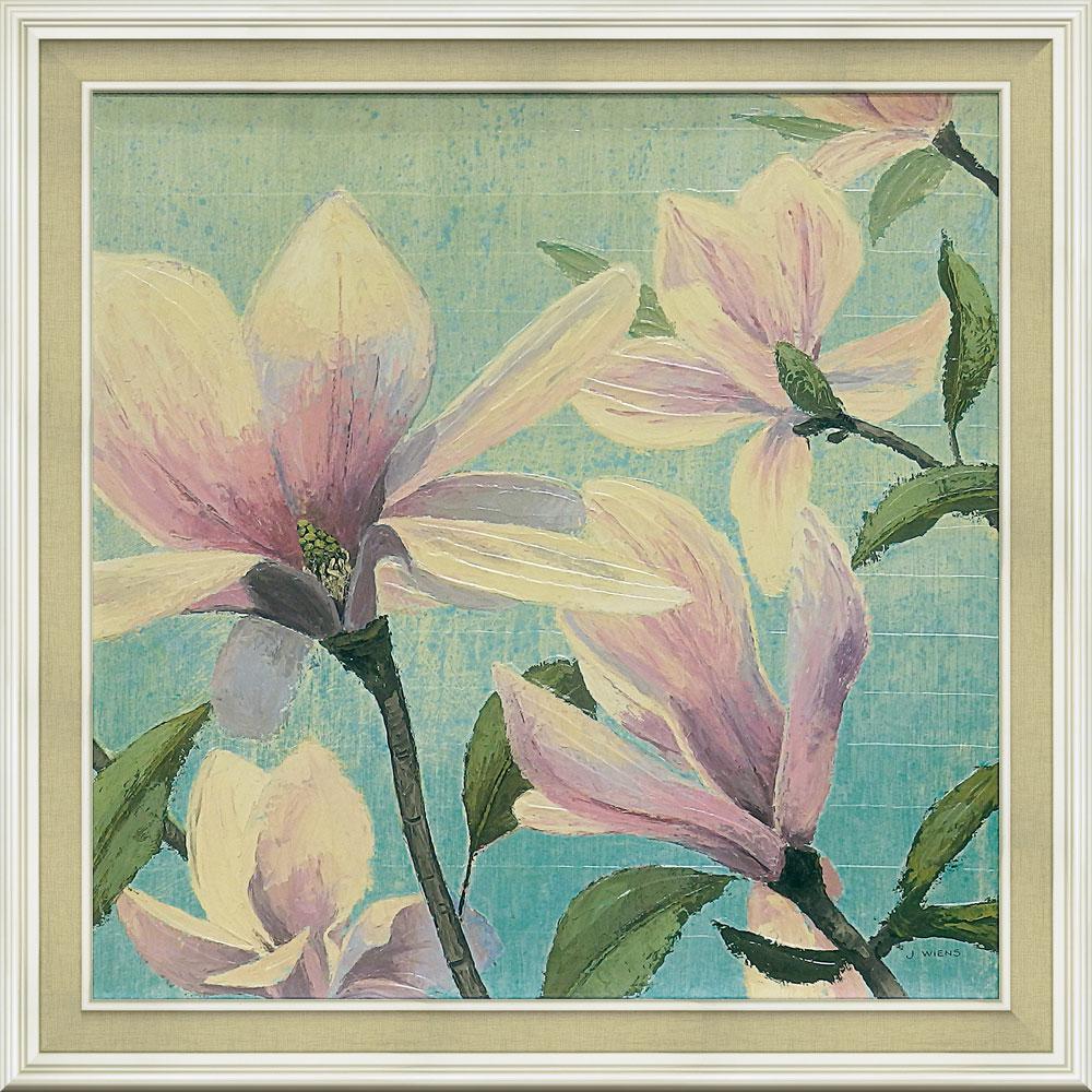壁掛け飾り 絵画 お祝い 記念品 おしゃれ かわいい | ジェームス ウィーンズ 「サザン ブロッサム スクエア1」 | 絵画 JW-15005 | 絵画 |