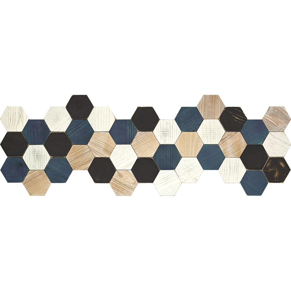 壁掛け飾り オブジェ お祝い 記念品 おしゃれ かわいい | プラデック ウッド クラフト 「カラフル ヘキサ(Lロング)」 | 3D絵画 PL-30044 | 絵画 |