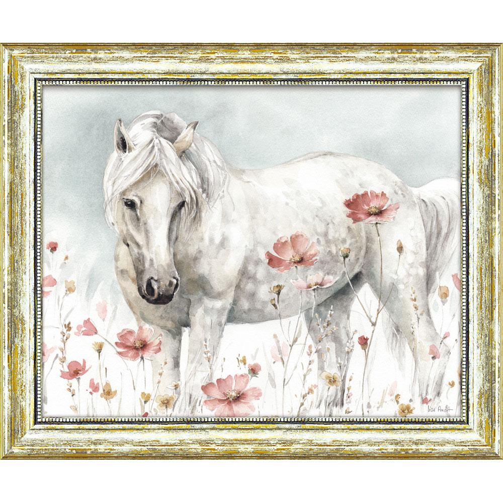 壁掛け飾り 絵画 お祝い 記念品 おしゃれ かわいい /リサ オーディット 「ワイルド ホース2」 LA-10030