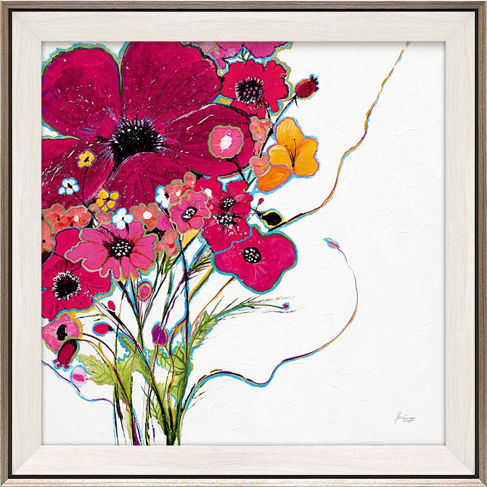 壁掛け飾り 絵画 お祝い 記念品 おしゃれ かわいい JG-20001 /ジャン グリッグス 「クレイジー デイジー オン ホワイト」 JG-20001 キャッシュレス還元 ポイント5倍