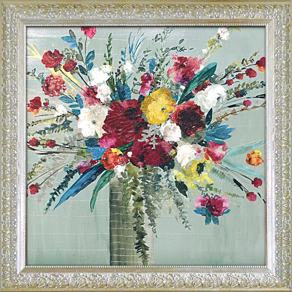 壁掛け飾り 絵画 お祝い 記念品 おしゃれ かわいい AJ-23003 /エイジア イェンセン 「ワイルド フラワーズ1」 AJ-23003 キャッシュレス還元 ポイント5倍