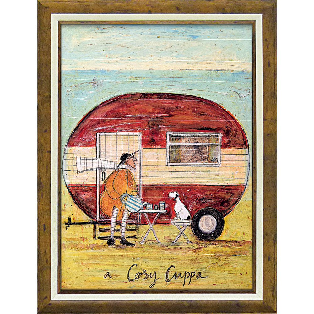 壁掛け飾り 絵画 お祝い 記念品 おしゃれ かわいい   サム トフト 「コージー カッパ」   絵画 ST-16023   絵画  