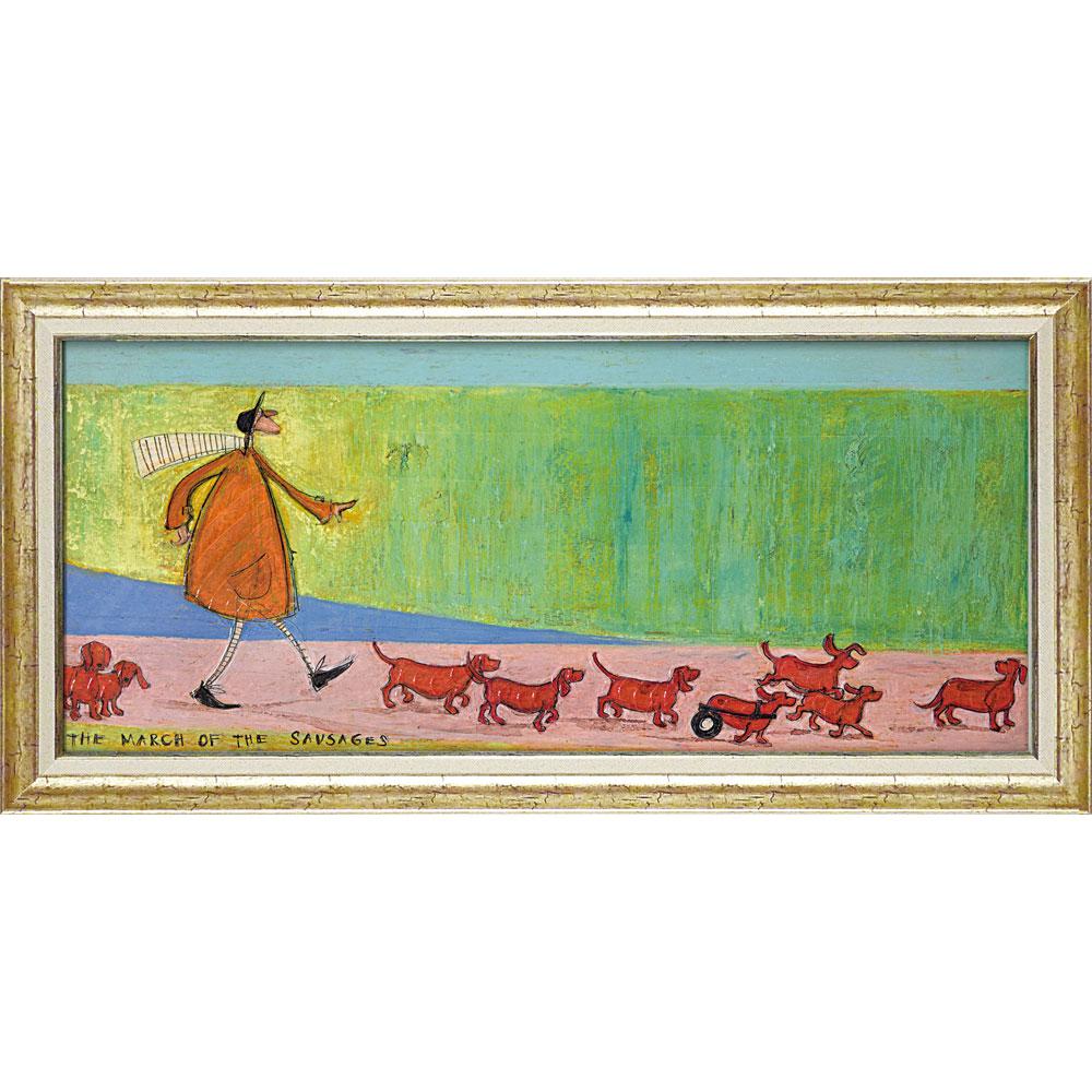 壁掛け飾り 絵画 お祝い 記念品 おしゃれ かわいい ST-16026 /サム トフト 「ソーセージ大行進」 ST-16026 キャッシュレス還元 ポイント5倍