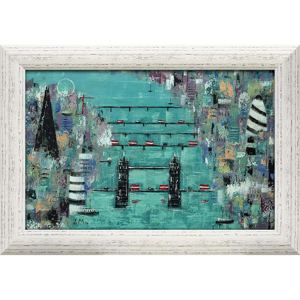 壁掛け飾り 絵画 お祝い 記念品 おしゃれ かわいい LM-16002 /リー マッカーシー 「ロンドン アイ」 LM-16002 キャッシュレス還元 ポイント5倍