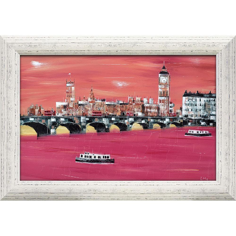 壁掛け飾り 絵画 お祝い 記念品 おしゃれ かわいい | リー マッカーシー 「ビッグベン」 | 絵画 LM-16003 | 絵画 |