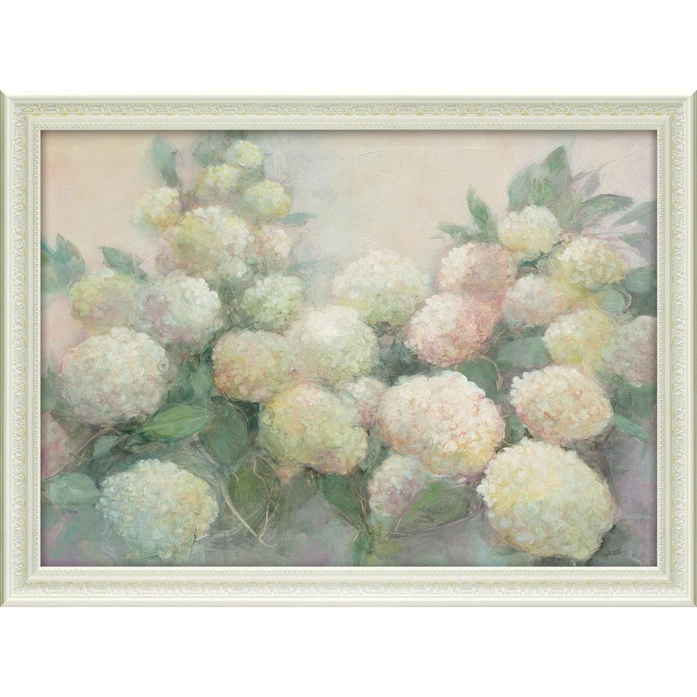 壁掛け飾り 絵画 お祝い 記念品 おしゃれ かわいい JP-15011 /ジュリア プリントン 「アナベル ハイドランジア」 JP-15011 キャッシュレス還元 ポイント5倍