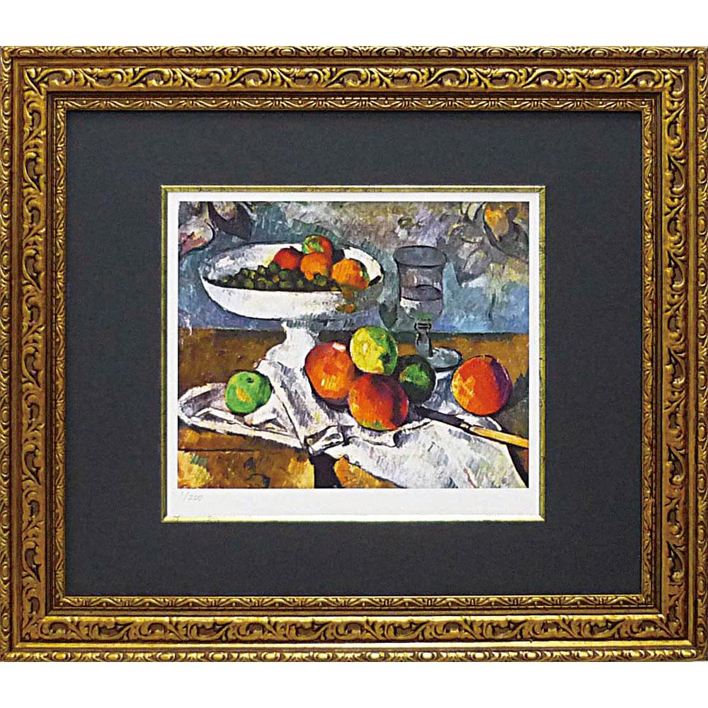 壁掛け飾り 絵画 お祝い 記念品 おしゃれ かわいい MW-18066 /ミュージアム シリーズ (シグレー版画)セザンヌイ 「果物ナイフのある静物」 MW-18066 キャッシュレス還元 ポイント5倍