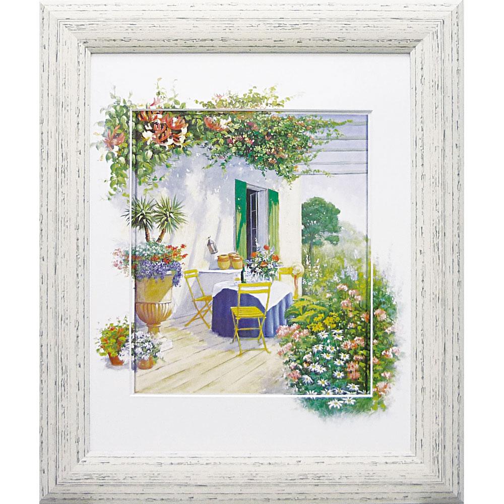 壁掛け飾り 絵画 お祝い 記念品 おしゃれ かわいい | ピーター モッツ 「ベランダ イン ブルーム1」 | 絵画 PM-12036 | 絵画 |