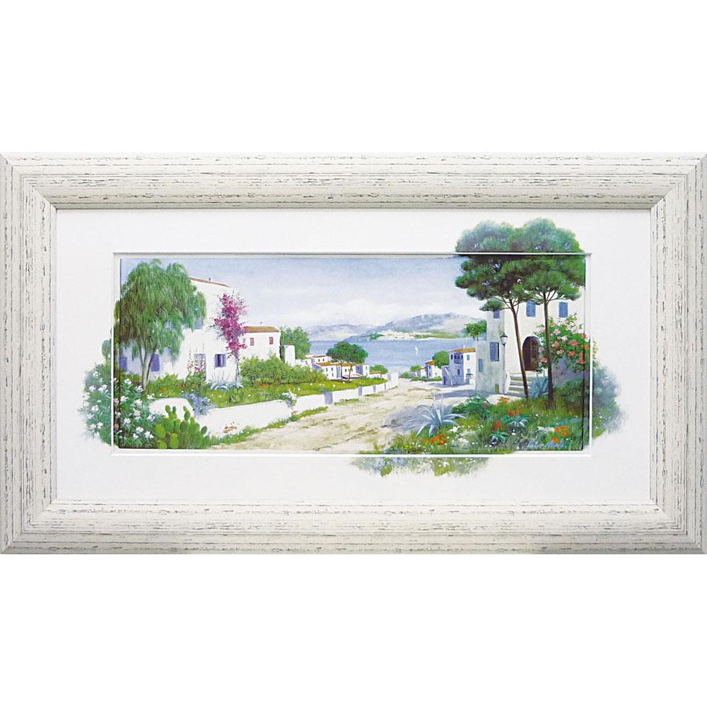 壁掛け飾り 絵画 お祝い 記念品 おしゃれ かわいい PM-15046 /ピーター モッツ 「オーシャン パス」 PM-15046 キャッシュレス還元 ポイント5倍