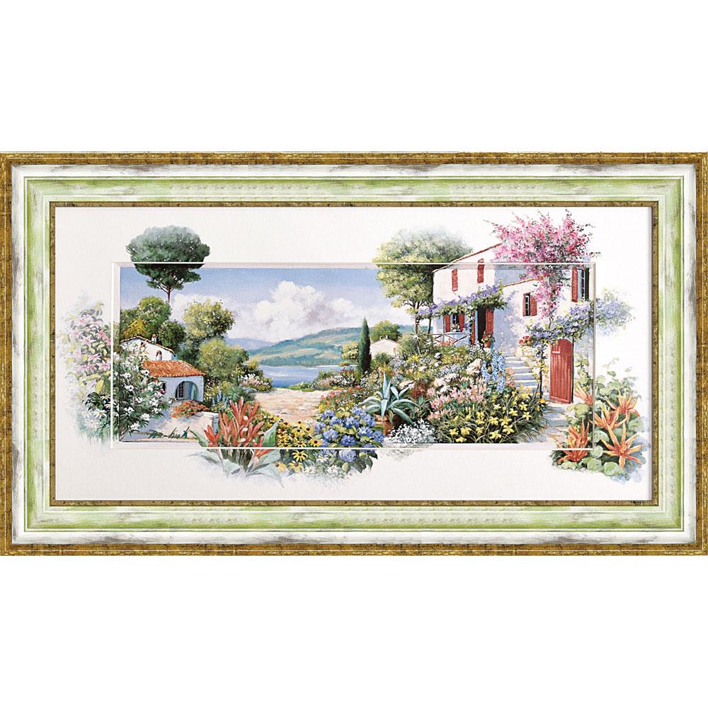 壁掛け飾り 絵画 お祝い 記念品 おしゃれ かわいい   ピーター モッツ 「ラーゴ ディ マッジョーレ2」   絵画 PM-15052   絵画  