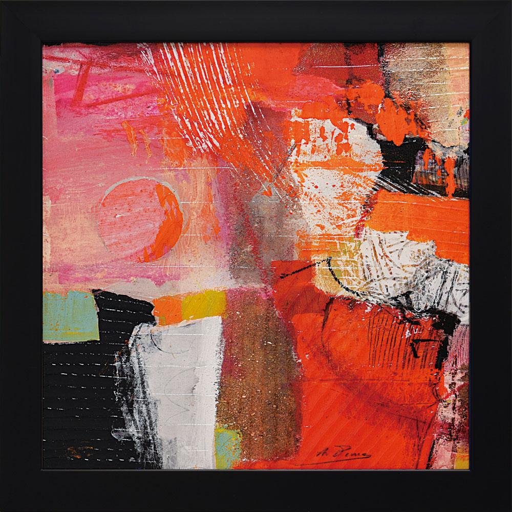 壁掛け飾り 絵画 お祝い 記念品 おしゃれ かわいい /アーサー ピマ 「カラーズ オブ サマー1」 AP-18001