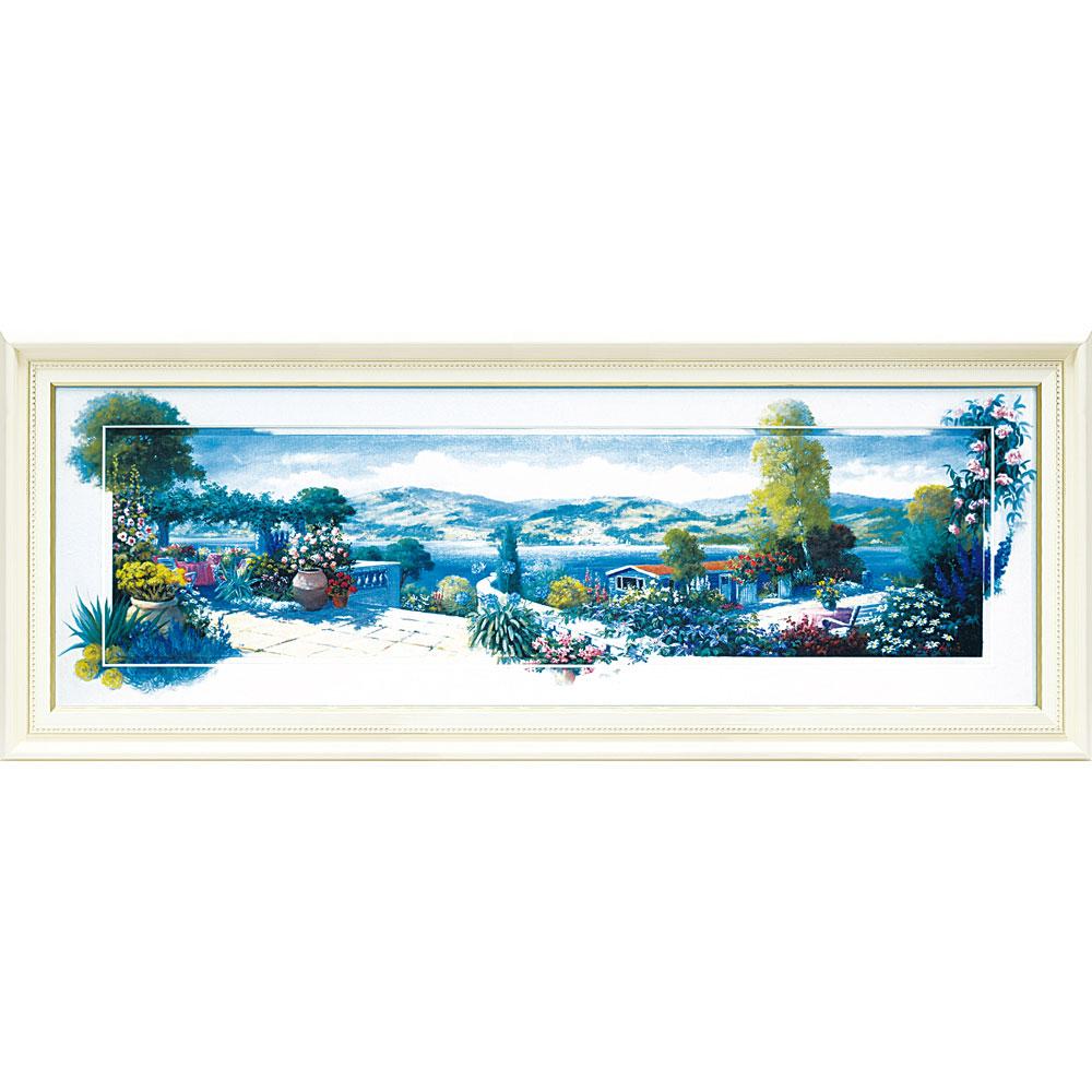 壁掛け飾り 絵画 お祝い 記念品 おしゃれ かわいい | ピーター モッツ 「パノラマ テラス1(Lサイズ)」 | 絵画 PM-17001 | 絵画 |