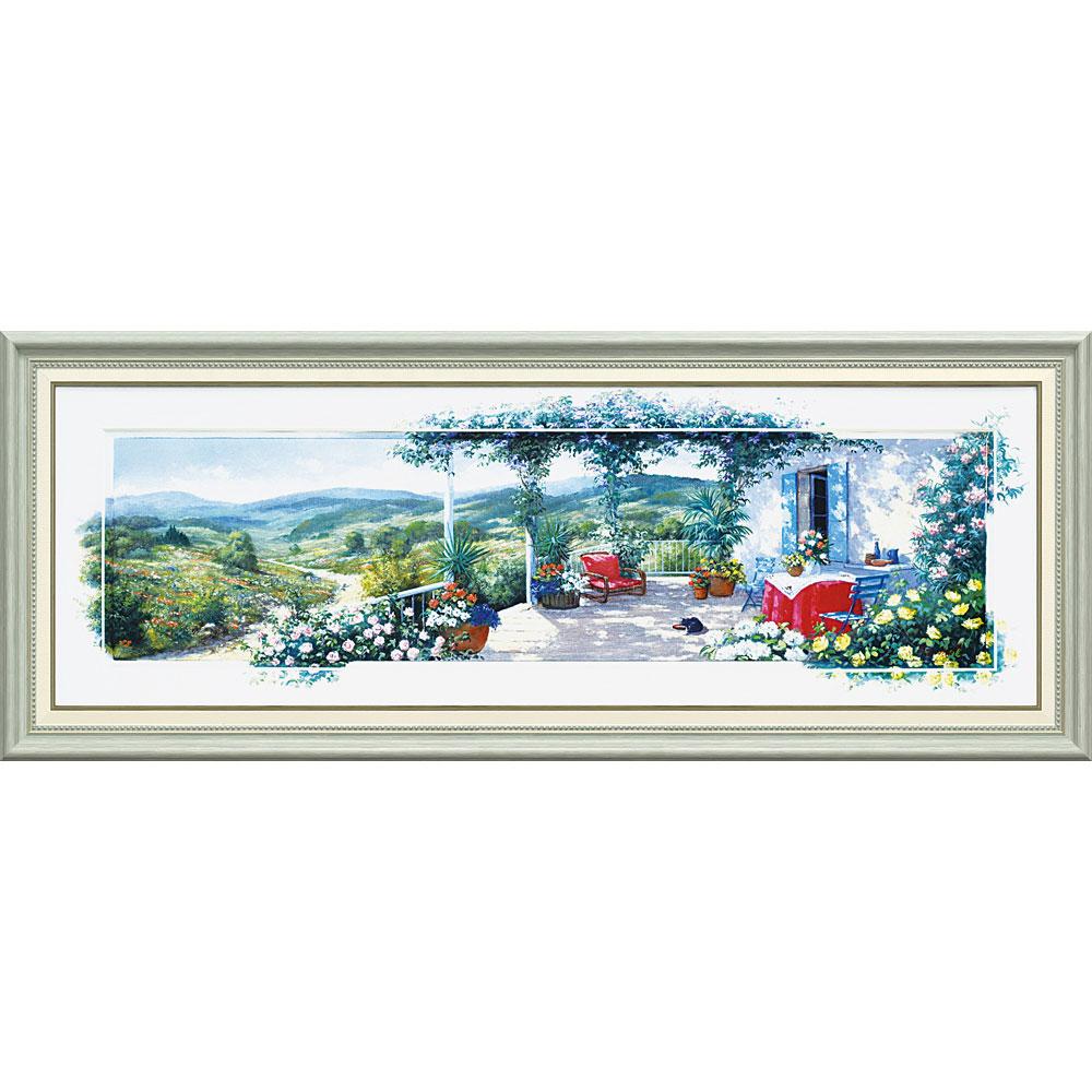 壁掛け飾り 絵画 お祝い 記念品 おしゃれ かわいい PM-17002 /ピーター モッツ 「パノラマ テラス2(Lサイズ)」 PM-17002 キャッシュレス還元 ポイント5倍