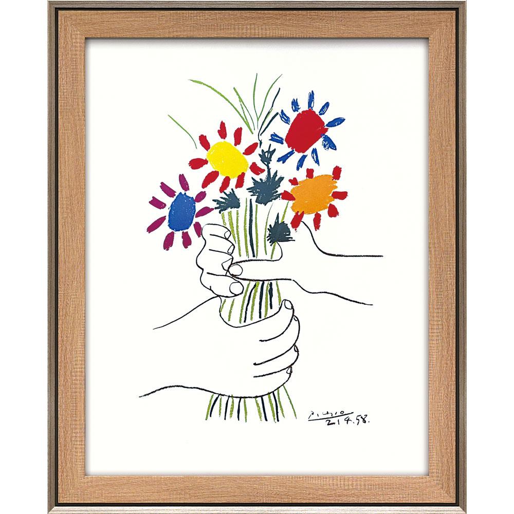 壁掛け飾り 絵画 お祝い 記念品 おしゃれ かわいい | パブロ ピカソ 「花束を持つ手」 | 絵画 PP-15002 | 絵画 |