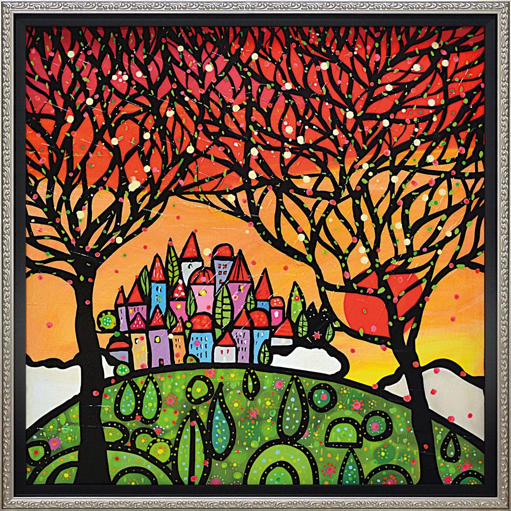 壁掛け飾り 絵画 お祝い 記念品 おしゃれ かわいい /ウォーラス 「アルベリ グアルダノ(Lサイズ)」 WL-12505
