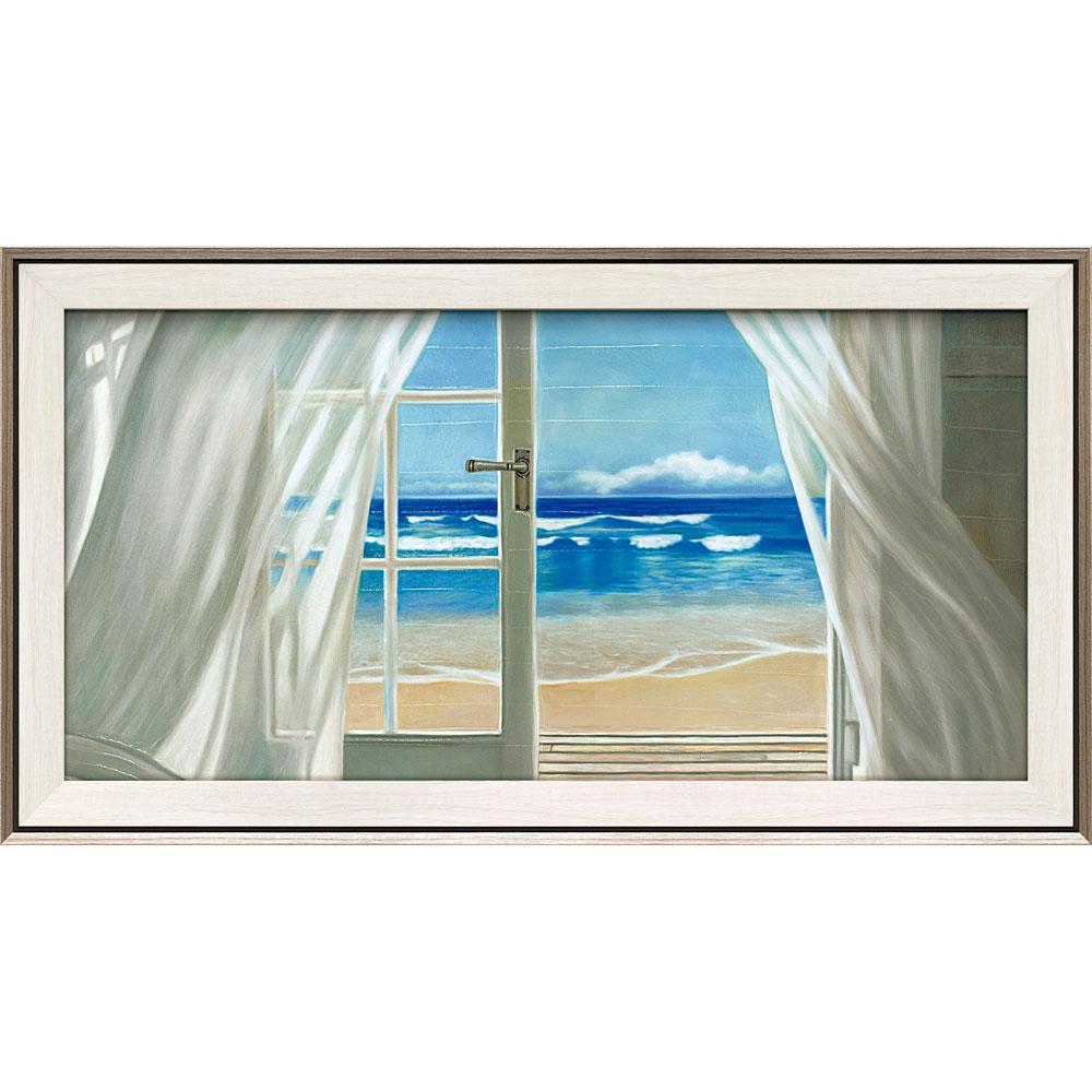 壁掛け飾り 絵画 お祝い 記念品 おしゃれ かわいい   ピエール ベンソン 「ウィンドウ バイ ザ シー」   絵画 PB-23002   絵画  