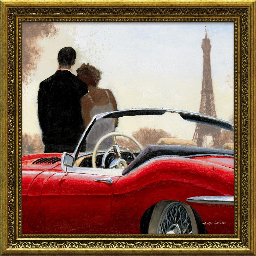 壁掛け飾り 絵画 お祝い 記念品 おしゃれ かわいい | マルコ ファビアノ 「ライド イン パリ1」 | 絵画 MA-10005 | 絵画 |